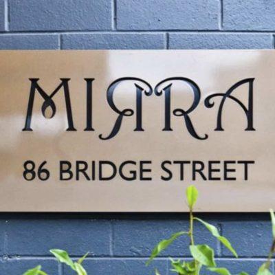 MIRRA front signage