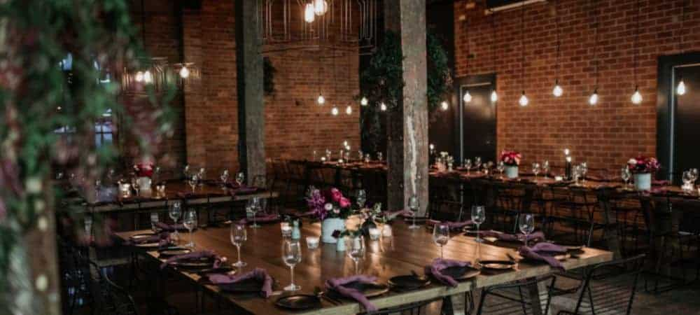 Warehouse style venue