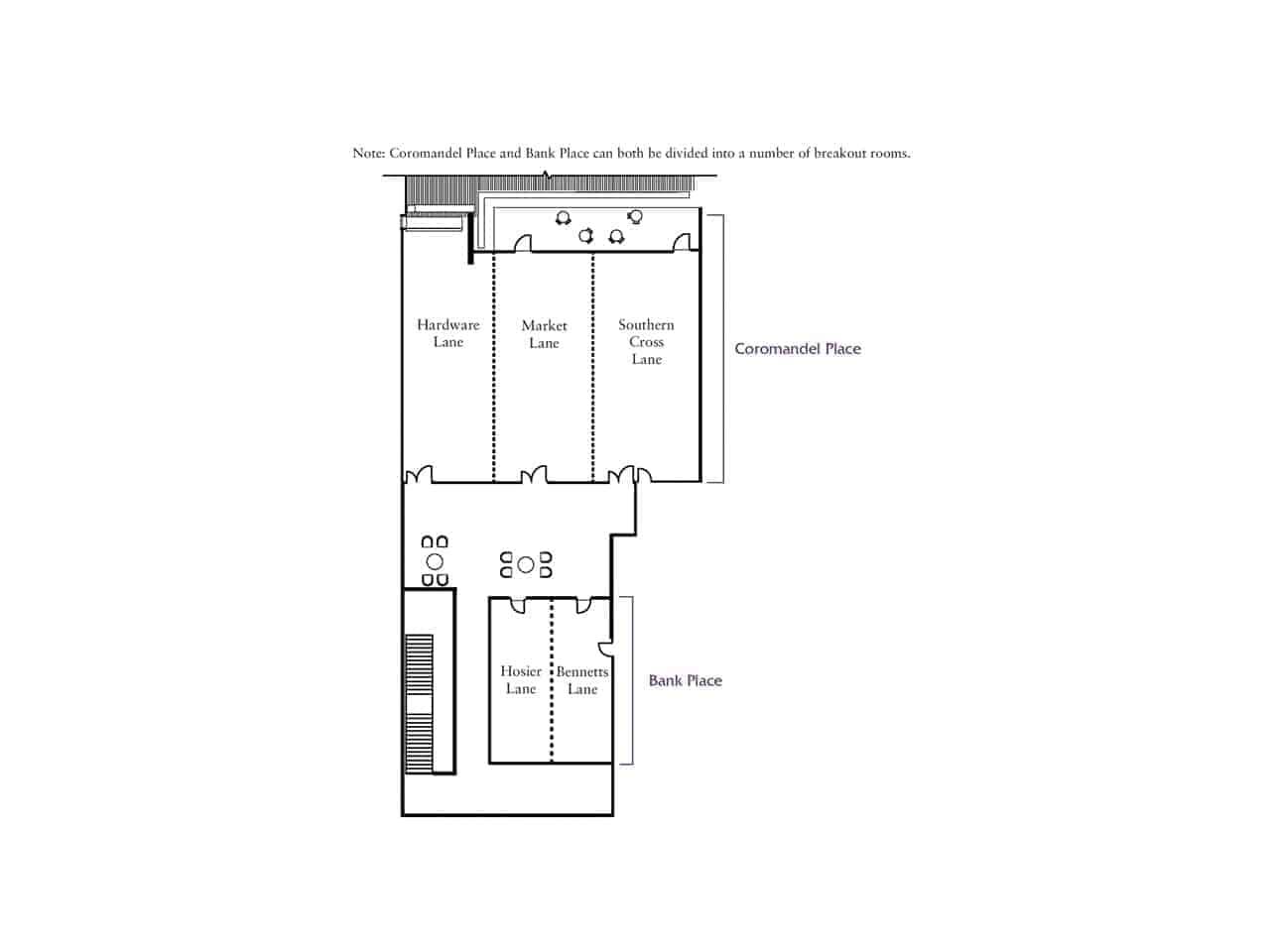Event venue floor plan