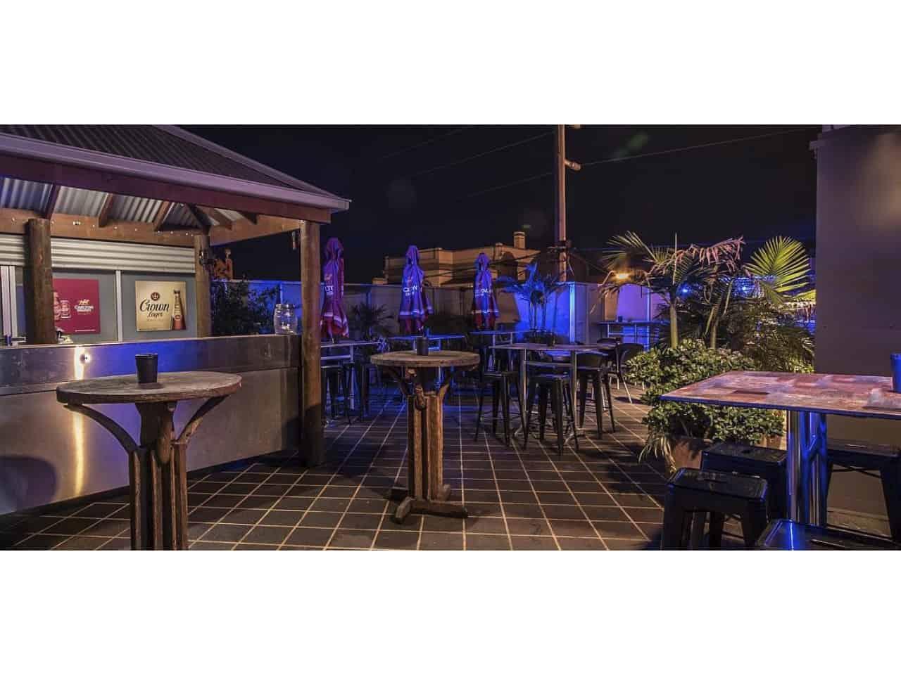 Rooftop beer garden