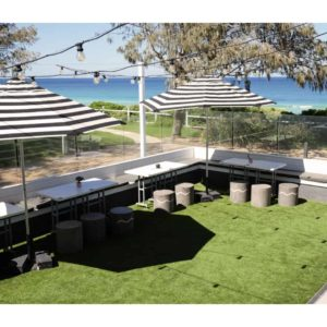 Outdoor oceanside venue