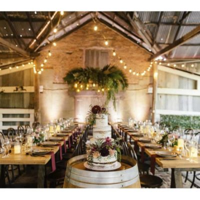 rustic wedding space
