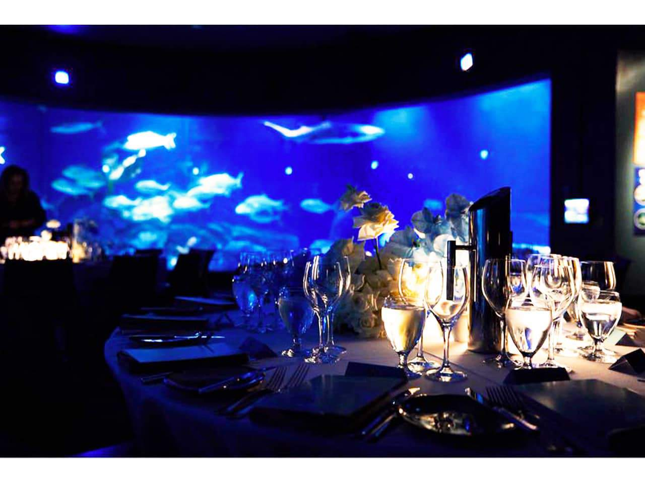 Banquet tables for event